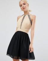 Little Mistress Skater Dress With Embellished Detail