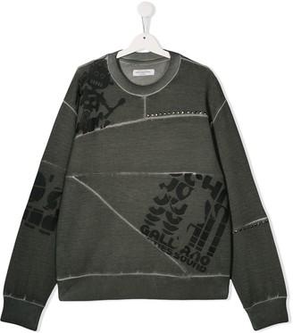 John Galliano Teen logo-print long-sleeved T-shirt