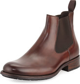 Magnanni Leather Chelsea Boot, Mid-Brown