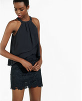 Express pleated halter tank