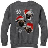 Fifth Sun Charcoal Heather Santa Pugs Fleece Sweatshirt - Men's Regular