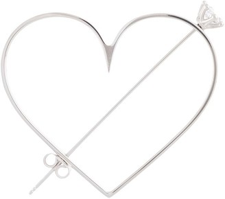 D'heygere Oversized Heart Earring