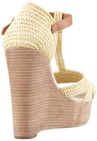 Tory Burch Carina Macrame Wedge Sandal