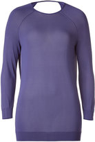 Halston Sweet Lavender Deep Cowl-Neck Back Top