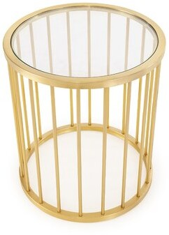 Blink Home Athens End Table Color: Gold