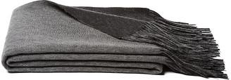 A & R Cashmere Reversible Cashmere Blend Throw - Gray - a&R Cashmere
