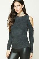 Forever 21 FOREVER 21+ Ribbed Open-Shoulder Sweater