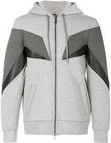 Neil Barrett geometric panelled hoodie