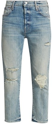 Mother The Scrapper Ankle Distressed Jeans