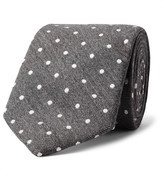 Richard James - 7.5cm Polka-dot Wool And Silk-blend Tie