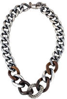 Lanvin Crystal Chain-Link Necklace