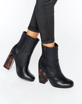 Missguided Contrast Block Heel Ankle Boots