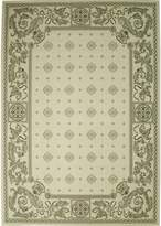 Safavieh Courtyard Collection CY1356-3901 Sand and Black Indoor/ Outdoor Area Rug, 8 feet by 11 feet (8' x 11')
