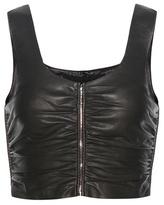 Alexander Wang Leather Crop Top