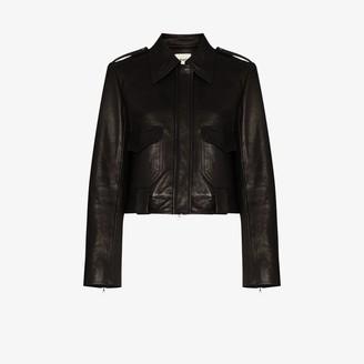 KHAITE Cordelia leather biker jacket