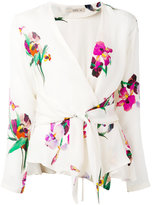 Etro tie-waist floral blouse - women - Silk - 46