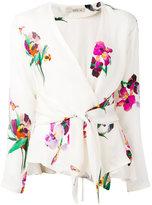 Etro tie-waist floral blouse