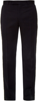 Alexander McQueen Raw-edge tailored wool trousers