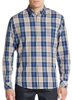 James Campbell Regular-Fit Peoria Plaid Cotton Sportshirt