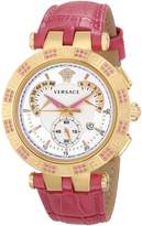Versace Women's 23C811D002 S111 V-RACE CHRONO Analog Display Quartz Pink Watch