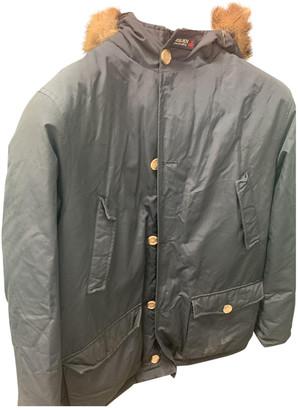 Woolrich Blue Cotton Jackets & Coats