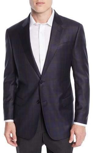 Emporio Armani Men's Wool Large-Windowpane Check Jacket
