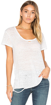 Pam & Gela Destroyed Scoop Neck Tee in White. - size S (also in )