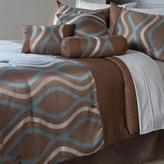 Lavish Home Galina Brown 7-Piece King Comforter Set