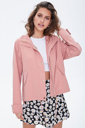 Forever 21 Hooded Snap-Button Jacket