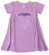 Urban Smalls Mauve Owl Flower Crown A-Line Dress - Toddler & Girls