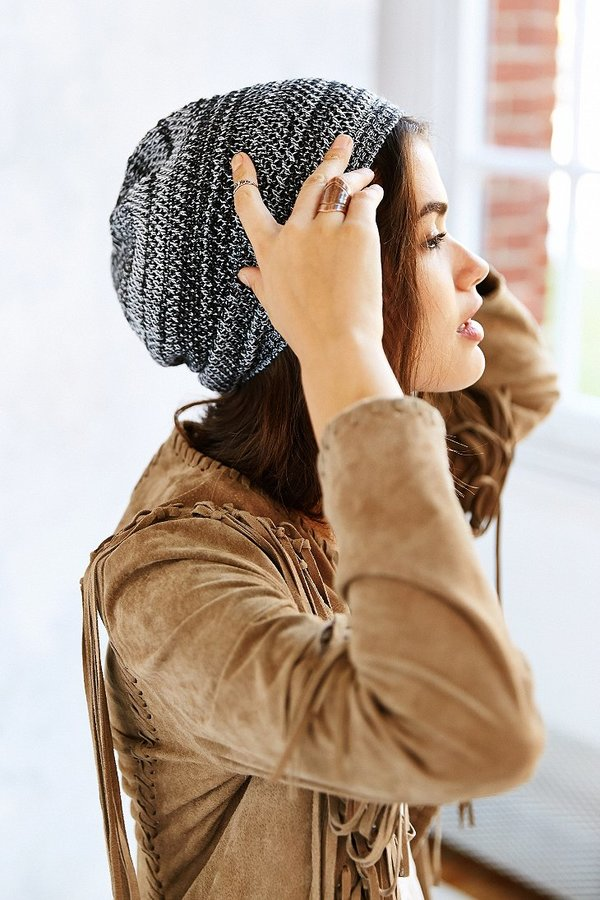 Urban Outfitters Open-Weave Slouch Beanie