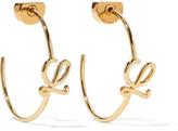 Loewe Gold-plated Hoop Earrings - one size