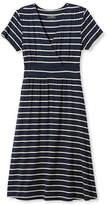 L.L. Bean Summer Knit Dress, Short-Sleeve Stripe