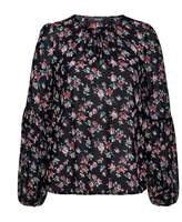 Hallhuber Rose print blouse with balloon sleeves