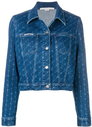 Stella McCartney monogram print denim jacket