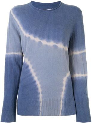 Raquel Allegra Tie Dye Print Knit Top