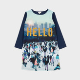 Paul Smith Girls' 7+ Years Navy Hello Print 'Maliana' Dress