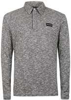 Nicce Grey Twist Polo Neck Sweater