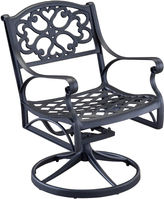 JCPenney Home Styles Biscayne Outdoor Swivel Dining Chair - Black Finish