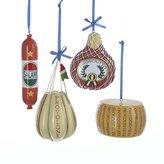 """Kurt Adler 2.5""""-3.75"""" Deli Food Ornaments, Set of 4"""