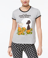 Mighty Fine Juniors' Charlie Brown Ringer Graphic T-Shirt