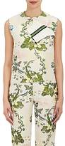 CALVIN KLEIN 205W39NYC Women's Floral Silk-Wool Jacquard Foldover Top