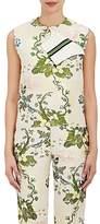 Calvin Klein Women's Floral Silk-Wool Jacquard Foldover Top