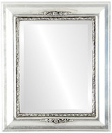 """The Oval And Round Mirror Store Boston Framed Rectangle Mirror in Silver Leaf w/ Black Antique, 25""""x35"""