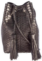 Tom Ford Python Small Double Tassel Bucket Bag