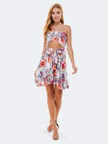 Thumbnail for your product : Bebe Strapless Tie Front Flare Dress