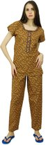 Phagun Cotton Printed Short Sleeve Pyjama Set Pj Pant Sleepwear - Choose
