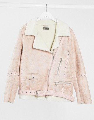 I SAW IT FIRST aviator jacket in pink