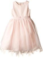 Us Angels Dot Netting Sleeveless Dress w/ Tiered Hanky Hem Skirt (Little Kids)