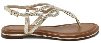 Kelly & Katie Women's Peggie Sandals White Size 5 Faux leather or fabric upper From Sole Society
